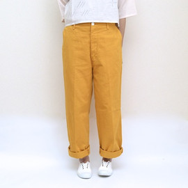 maindish - 製品染め STANDARD PANTS / YELLOW