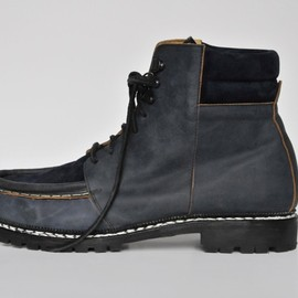 rosa mosa - davos-n_boot_leather_navy