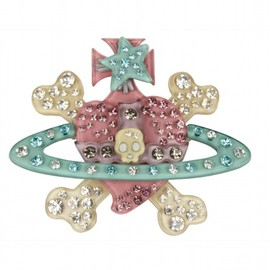 Vivienne Westwood - Heart & Cross Bone Brooch