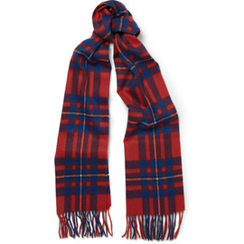 J.CREW - Cashmere Scarf In Plaid (Brilliant Flame Plaid)