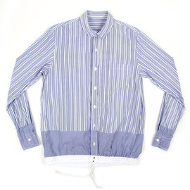 sacai - Stripe Shirt with drawstring