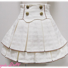 Angelic Pretty - Royal Chocolate Skirt (Ivory)