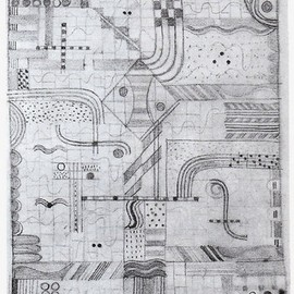 "Gunta Stölzl . Design for a knotted carpet ""Gesellenarbeit"". Bauhaus Weimar. 1922/23. Collection, Metropolitan Museum of Art."