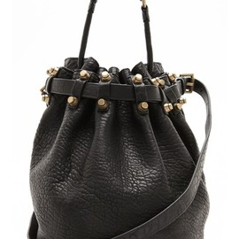 ALEXANDER WANG - Diego Bucket Bag with Antiqued Gold Hardware