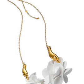 Alexis Bittar - Porcelain floral-detail necklace