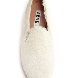 Acne - pony hair slipper