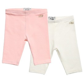 Mayoral - Baby Girls Pink & Ivory Leggings (Pack of 2)