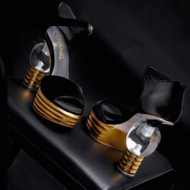 CHANEL - Light Bulb Heels - Gold