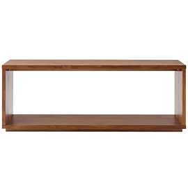 MUJI - walnut shelf, bench, table