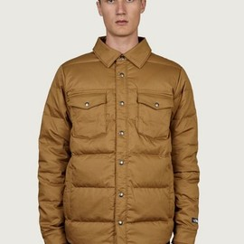 the North Face - Men's Khaki Mountain Heritage Down Shirt Jacket