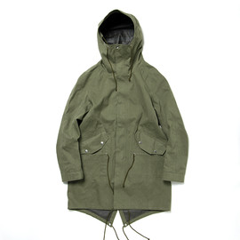 nonnative - TROOPER HOODED COAT COTTON CHINO CLOTH VEGETABLE DYED WITH GORE-TEX® PACLITE 2.5L