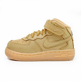 NIKE - FORCE 1 MID WB TD FLAX/FLAX-OUTDOOR GREEN-GUM LIGHT BROWN