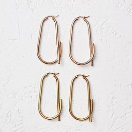 CELINE - Barbelé Hoop Earrings