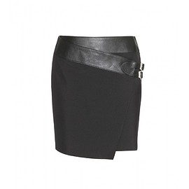 SAINT LAURENT - Pre-Fall 2015 Wool and leather skirt