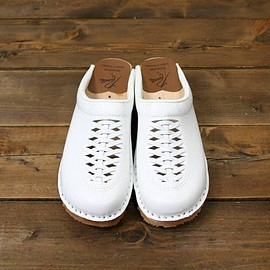 Needles - Troentorp x Needles Swedish Clog (White Leather)
