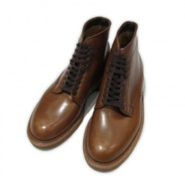 "ALDEN - CALF 6"" PLAIN TOE BOOT  DARK TAN"
