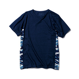 SOPHNET. - INDIGO SIDE PANEL TEE