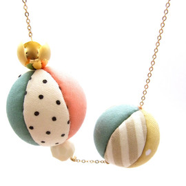 HOMAKO - Patch Q Ball Necklace - A  Limited edition