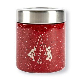 patagonia, patagonia provisions, MiiR - Red Speckled MiiR® Live Simply stainless steel food canister with campfire logo