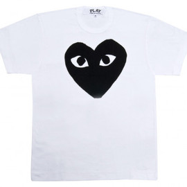 PLAY COMME des GARCONS - Black Play T-Shirt (White)