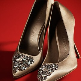 Burberry - Gem-Embellished Point-Toe Satin Pumps