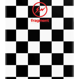 uncommon, fragment design - Fragment BW Checkers by Hiroshi Fujiwara iPhone 5 Black Bezel Deflector