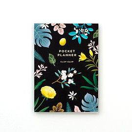 Clap Clap - Botanical Pocket Planner - Black