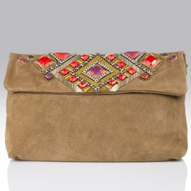 Matthew Williamson - Panel beaded large soft clutch/バックスキンビジュークラッチバッグ
