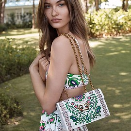 Tory Burch - Tory Burch Gemini Link Printed Large Chain Shoulder Bag