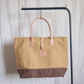 HERITAGE LEATHER CO. - Strap Tote #tan×brown