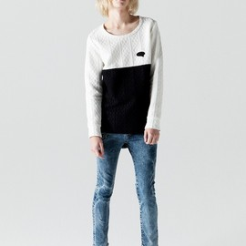 SHAREEF - CABLE KNIT 2TONE