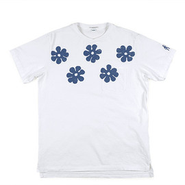 ENGINEERED GARMENTS - Printed Pocket T-Shirt-Flower-White