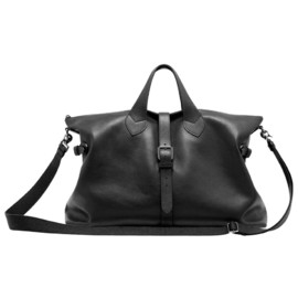 Mulberry - 'Albert Holdall' Black Heavy Pebbled