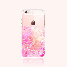 bycsera - iPhone 6s Case Clear Scallop iPhone 6S Plus Case Clear Scallop Watercolor