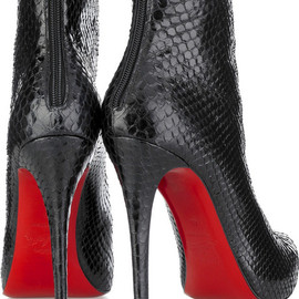Christian Louboutin - 14cm high, Snake Skin Ankle Boots (for Arrow)
