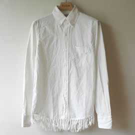 UNUSED - fringed hem shirt