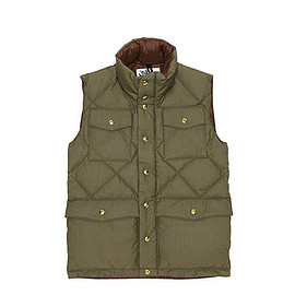 Crescent Down Works - LOFTMAN別注 Field Down Vest-Olive