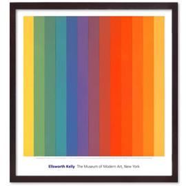 Ellsworth Kelly - Spectrum,IV (Dark Brown Frame)