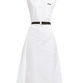 miu miu - Belted cotton midi dress