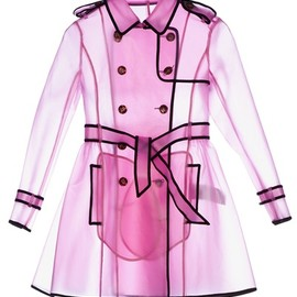 REDValentino - RED VALENTINO - sheer rain trench coat
