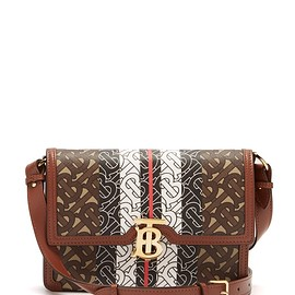 BURBERRY - Albion TB-monogram e-canvas cross-body bag