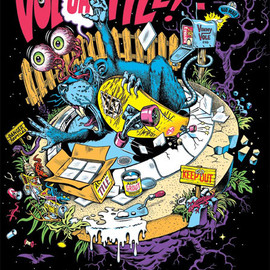 JIMM PHILLIPS - VOLCOMIC POSTER SCREENPRINT