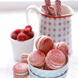 Cannelle et Vanille - Raspberry and Pink Peppercorn Macarons
