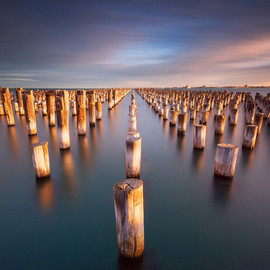 Melbourne, Australia - Prince Pier Sunset by Wolongshan