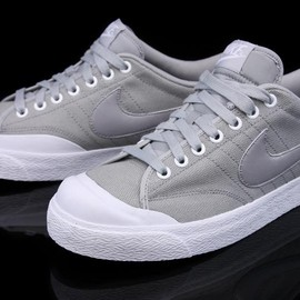 NIKE - All Court Canvas Matte Silver/White