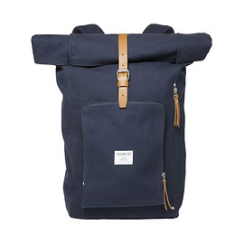 SANDQVIST - SANDQVIST JERRY  ROLLTOP BACK PACK BLUE