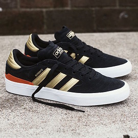adidas - Busenitz Vulc II - Black/Gold Metallic/Solar Red
