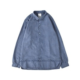 visvim - LONG RIDER INDIGO CHECK SHIRT L/S