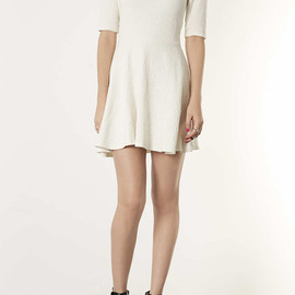 TOPSHOP - Textured High Neck Tunic