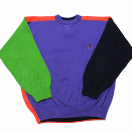 TOMMY HILFIGER - Vintage 90s Tommy Hilfiger Halloween Colorway Sweater Mens Size Large